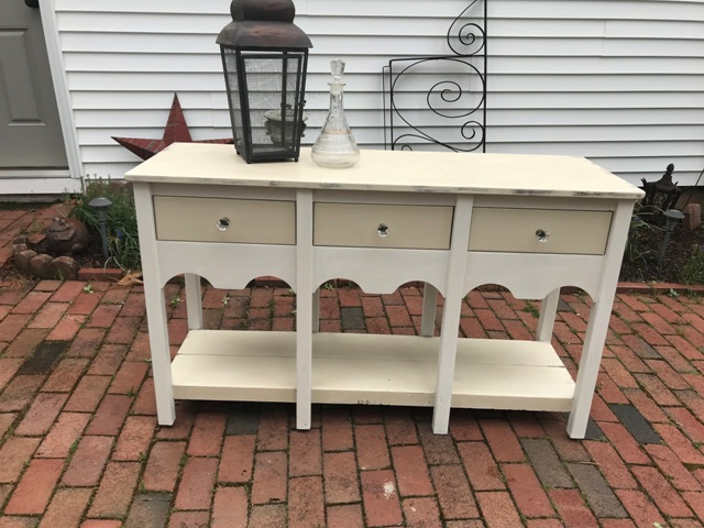 Refinished Dining Room Side Table